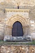 The Door of Forgiveness in Villafranca del Bierzo Stock Photos