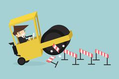 Businessman and obstacles Stock Illustration
