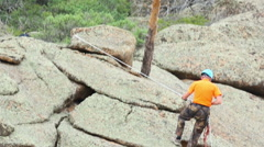 Rock climber Stock Footage