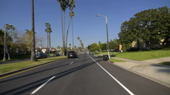 Driving Plates Multi Angle Hollywood 10 CAM1 Front Highland Ave North at 6th  Stock Footage