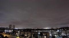 Night timelapse 4k Hallandale Stock Footage