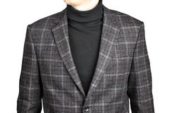 woolen suit jacket into the cell - stock photo