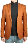 Orange jacket suit for men. - stock photo
