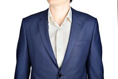 Sapphire for men suit jacket fine checkered. - stock photo