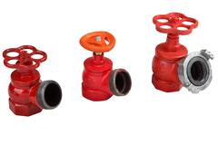Valves hydrant fire hose connection of Stock Photos