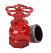 Red cast iron indoor fire hydrant valve with male thread Stock Photos