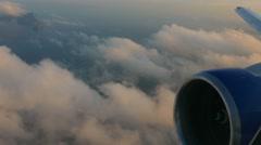 Before landing in Phuket airport Stock Footage