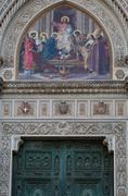 Detail of Cathedral Santa Maria del Fiore - stock photo