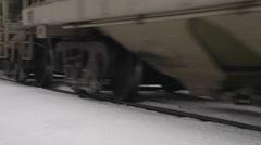 Railroad, train tight on trucks and rail Stock Footage