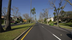 Driving Plates Multi Angle Hollywood 12 CAM1 Front Highland Ave N at Rosewood Stock Footage