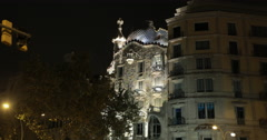 4K video of the Gaudi designed Casa Batlló in Barcelona, Spain Stock Footage