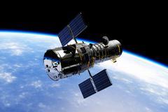 Hubble Space Telescope  Stock Illustration