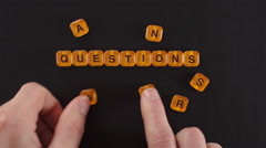 Letters Blocks Questions and Answers Stock Footage