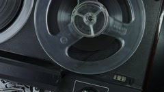 Ungraded: Reel-To-Reel Tape Recorder Stock Footage