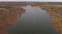 Desolate Lake in Winter Stock Footage