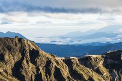 Highland Andes near Quilotoa lagoon, Ecuador, South America Stock Photos