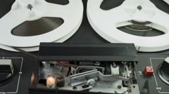Ungraded: Reel-To-Reel Tape Recorder Playing Tape Stock Footage