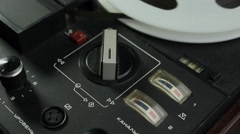 Ungraded: Analog VU-meters of Reel-To-Reel Tape Recorder Stock Footage