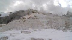 Mammoth Hot Springs Stock Footage
