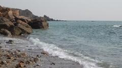 Coast of Yellow sea. Stock Footage