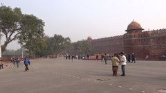 Red Fort, UNESCO world heritage site4 Stock Footage