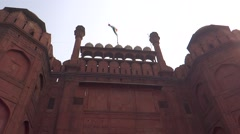 Red Fort, UNESCO world heritage site3 Stock Footage