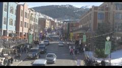 Sundance Main Street Daytime Stock Footage
