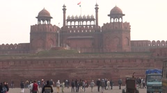 Red Fort, UNESCO world heritage site1 Stock Footage