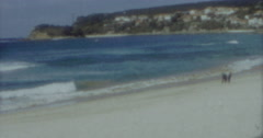 Manly Sydney Beach 4k Vinatge 60s - stock footage