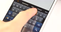 4k Smartphone Typing/texting,Finger operating touch typing email on Cell phone. Stock Footage