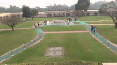 Rajghat, A Memorial To Mahatma Gandhi7 Stock Footage