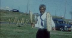 Aborigine in a Suit Sydney 4k Vintage 60s - stock footage