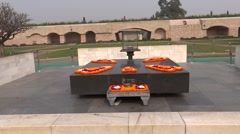Rajghat, A Memorial To Mahatma Gandhi3 Stock Footage