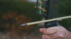 Stock Video Footage of firing fire arrow archery archer