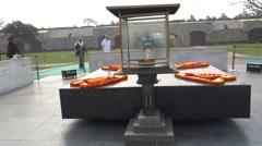 Rajghat, A Memorial To Mahatma Gandhi6 Stock Footage