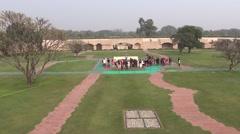 Rajghat, A Memorial To Mahatma Gandhi4 Stock Footage