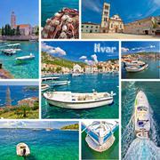 Hvar island tourist destination collage Stock Photos