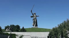 Monument Motherland mother Stock Footage