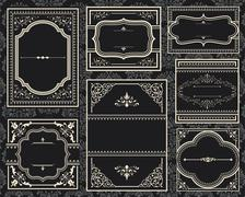 Ornate Vintage Frames Stock Illustration