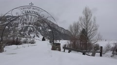 Cemetery of Crested Butte Colorado Stock Footage