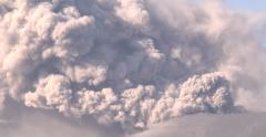 Close Up Dramatic Volcanic Eruption Ash Cloud - stock footage