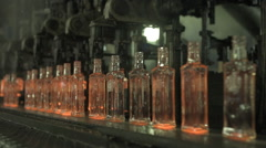 Production Of Glass Bottles 1 Stock Footage