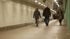 Underground Passage in Moscow Stock Footage