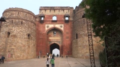 Purana Qila (Old Fort) Main Entrance2 Stock Footage