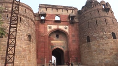 Purana Qila (Old Fort) Main Entrance1 Stock Footage