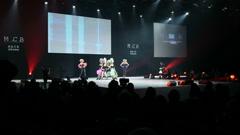 PARIS, FRANCE - NOVEMBER 2010: OMC Hair World Cup 2010. The awarding ceremony Stock Footage