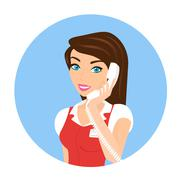 Female call centre operator - isolated Stock Illustration