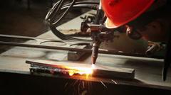 Metal working autogenous welding 8 Stock Footage