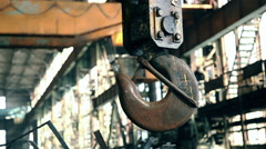 Industrial crane hook 2 Stock Footage
