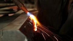Metal working autogenous welding 6 Stock Footage